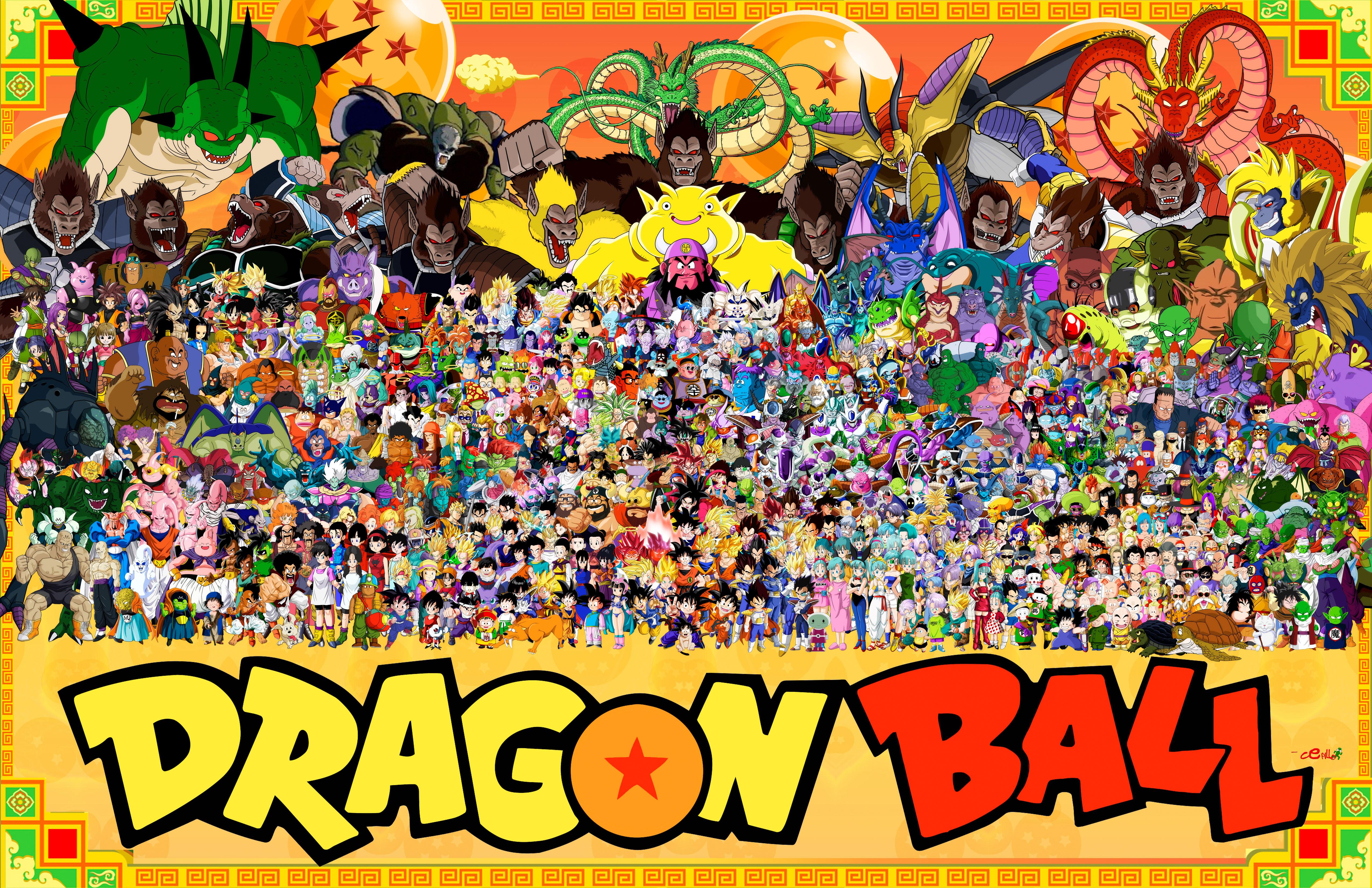 Tous les personnages de dragon ball r unis pour une photo - Image de dragon ball z ...