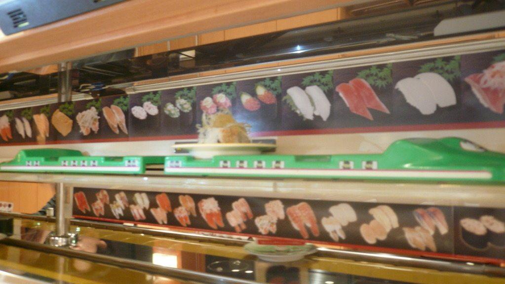 Le sushi-shinkansen