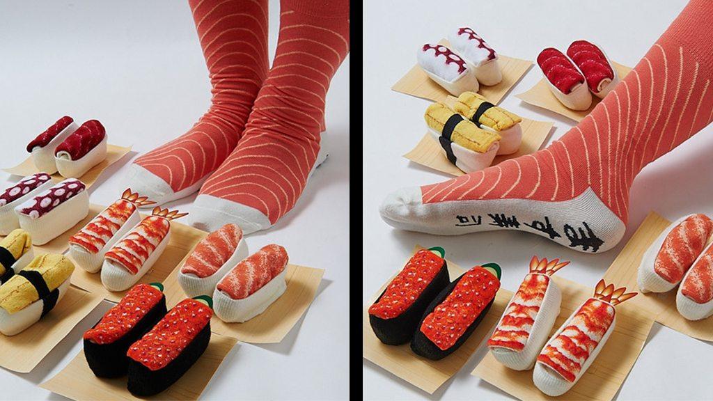 Et enfin, un plateau de chaussettes-sushis!