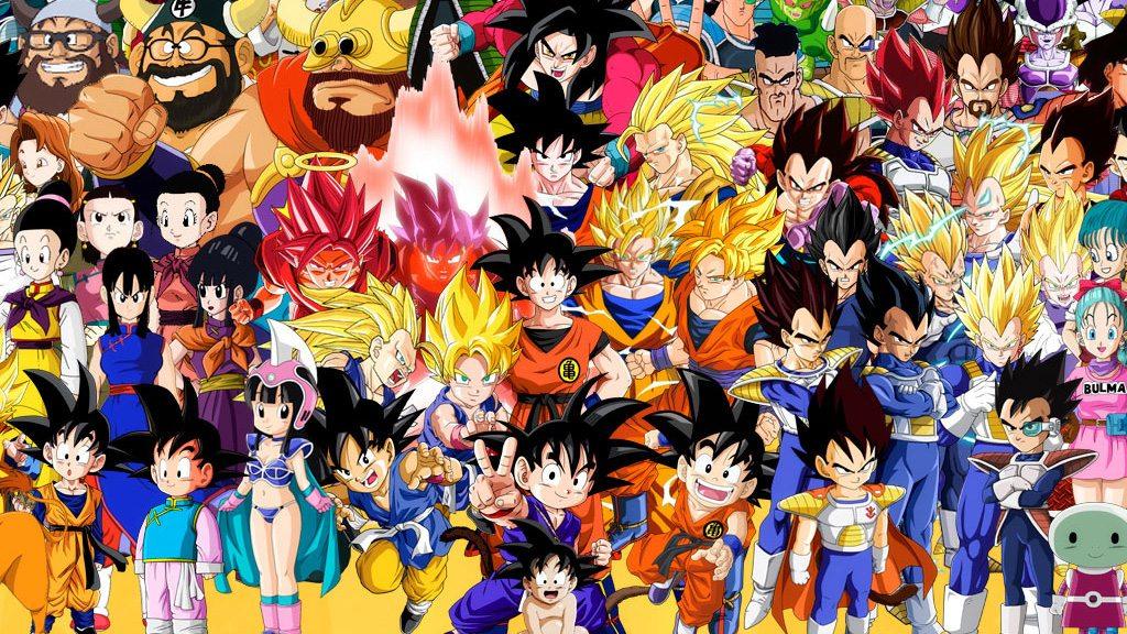 Tous les personnages de dragon ball r unis pour une photo - Tout les image de dragon ball z ...