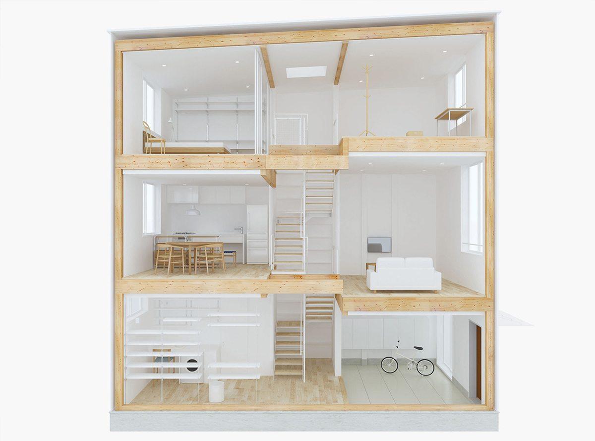 la maison par muji tokyo dozodomo. Black Bedroom Furniture Sets. Home Design Ideas