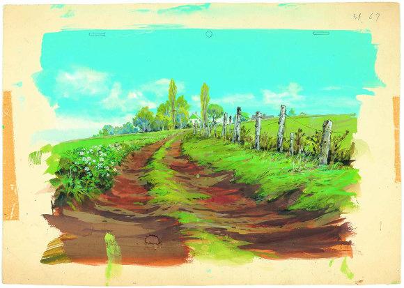 Des dessins in dits de miyazaki expos s tokyo d but ao t for Anne et la maison aux pignons verts livre