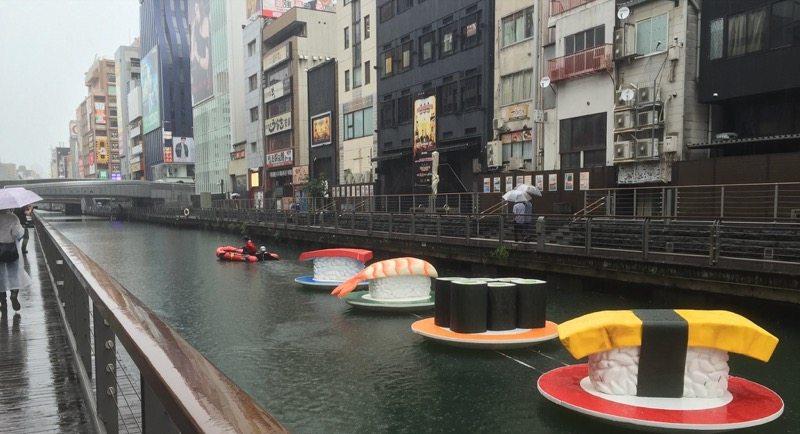 Rolling sushi Osaka