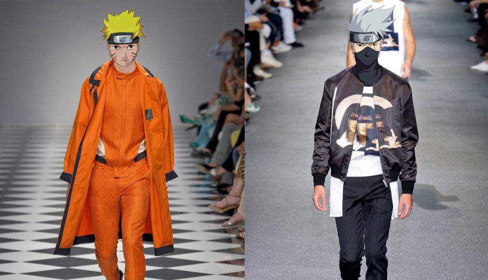 Quand Les Personnages De Naruto Sont Habillés Par Les Plus Grands Créateurs
