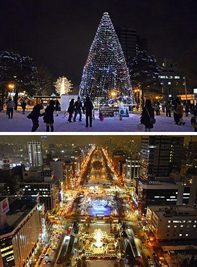 Sapporo sapin de noel