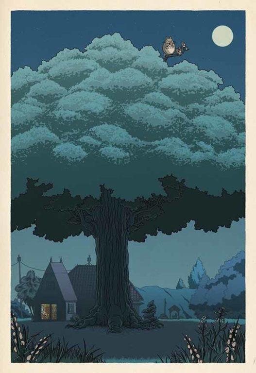Ghibli ukiyoe 2