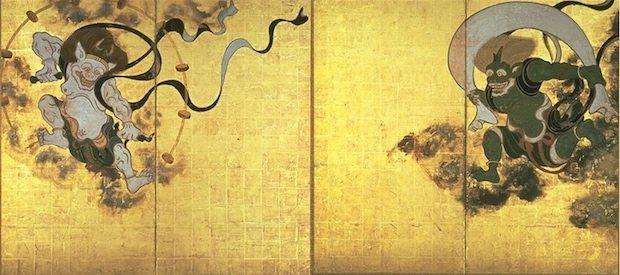 fujin-raijin-tawaraya-rimpa-painting-panel