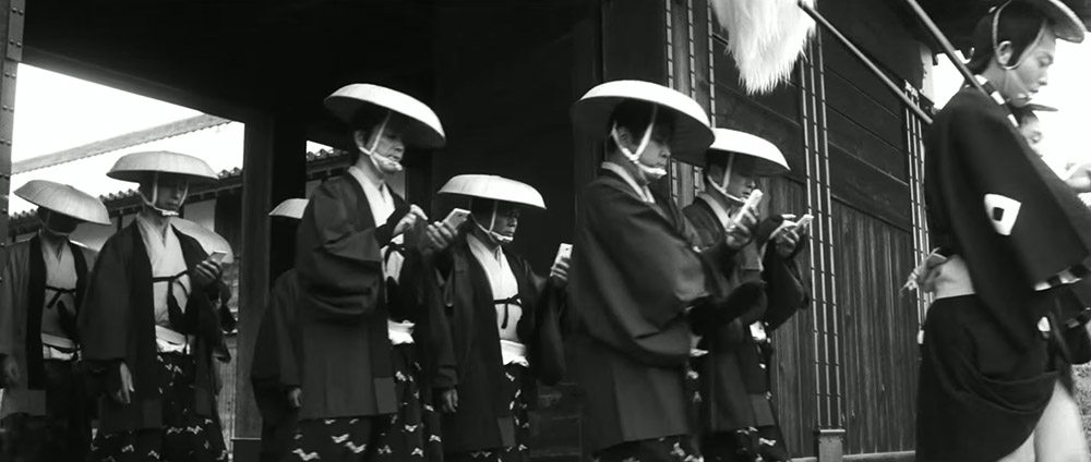 samourai smartphone parade