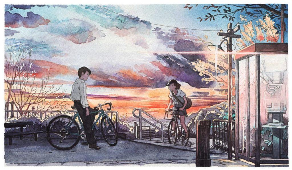 Mateusz Urbanowicz Bicycle boy aquarelle ghibli_10