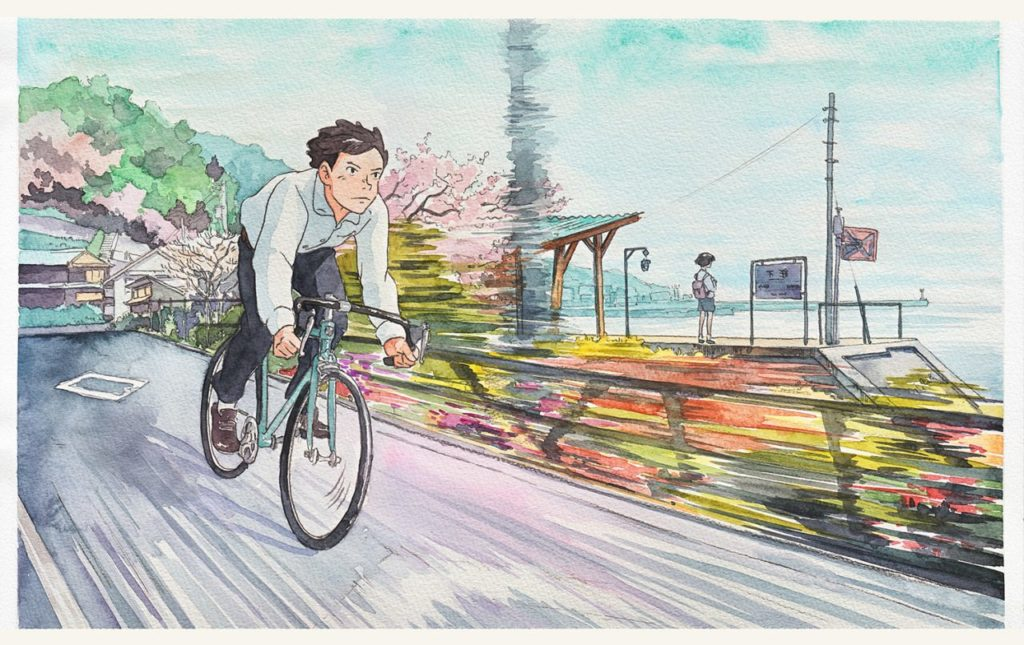 Mateusz Urbanowicz Bicycle boy aquarelle ghibli_4