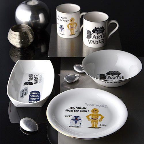 la marque de porcelaine maebata lance une collection de vaisselle star wars dozodomo. Black Bedroom Furniture Sets. Home Design Ideas