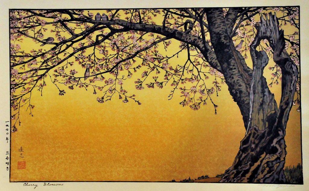 estampe japonaise cerisiers en fleurs_13
