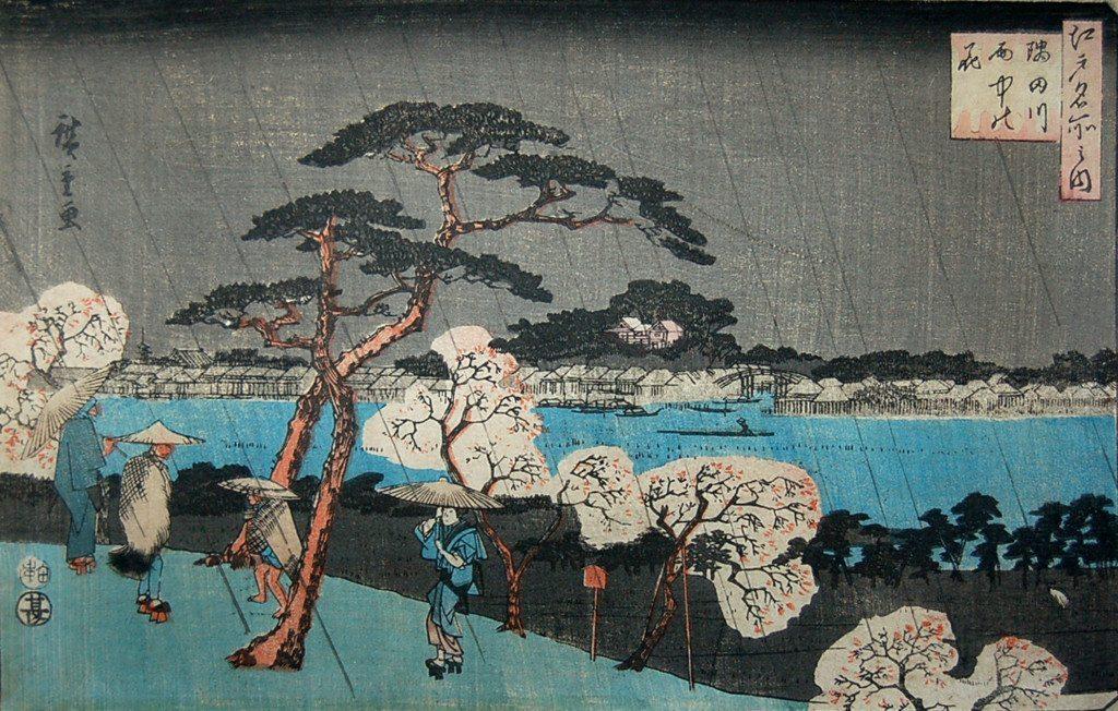 estampe japonaise cerisiers en fleurs_14