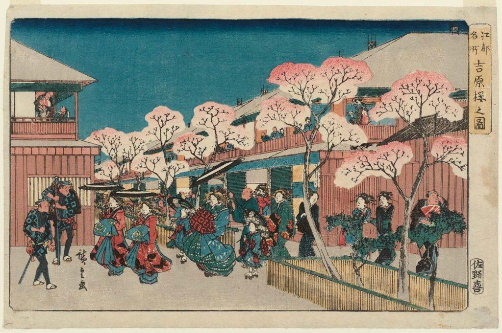 estampe japonaise cerisiers en fleurs_17