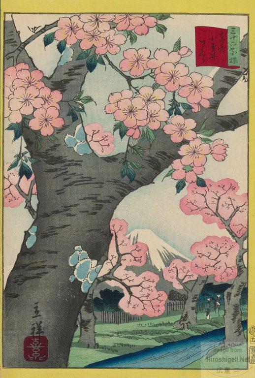 estampe japonaise cerisiers en fleurs_18