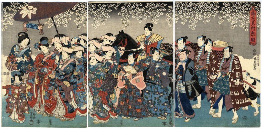 estampe japonaise cerisiers en fleurs_19