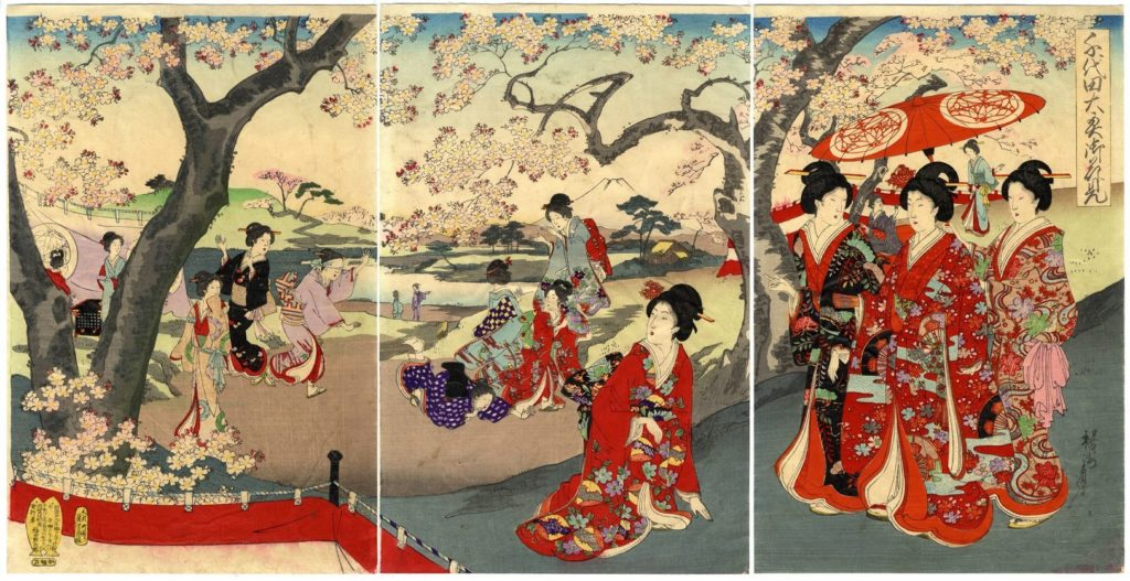 estampe japonaise cerisiers en fleurs_24