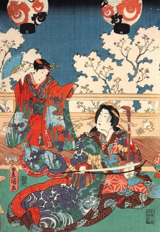 estampe japonaise cerisiers en fleurs_29