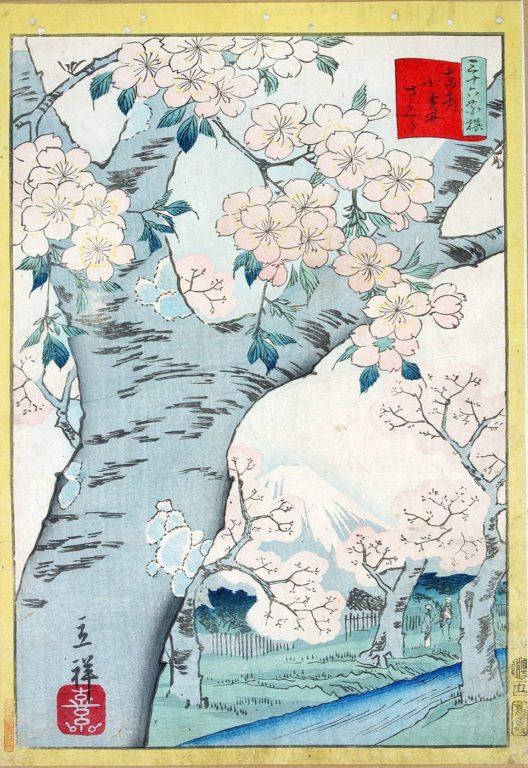 estampe japonaise cerisiers en fleurs_35