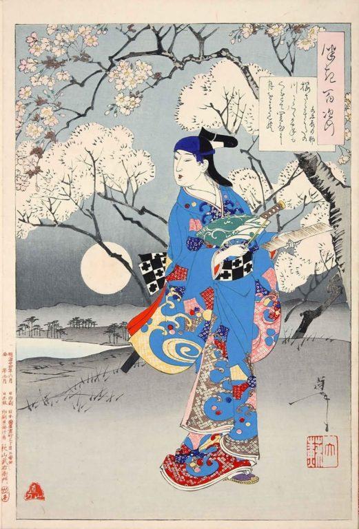 estampe japonaise cerisiers en fleurs_39