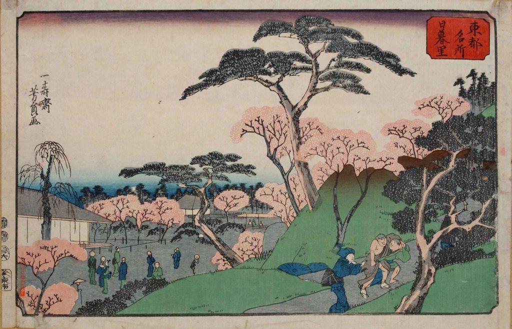 estampe japonaise cerisiers en fleurs_40