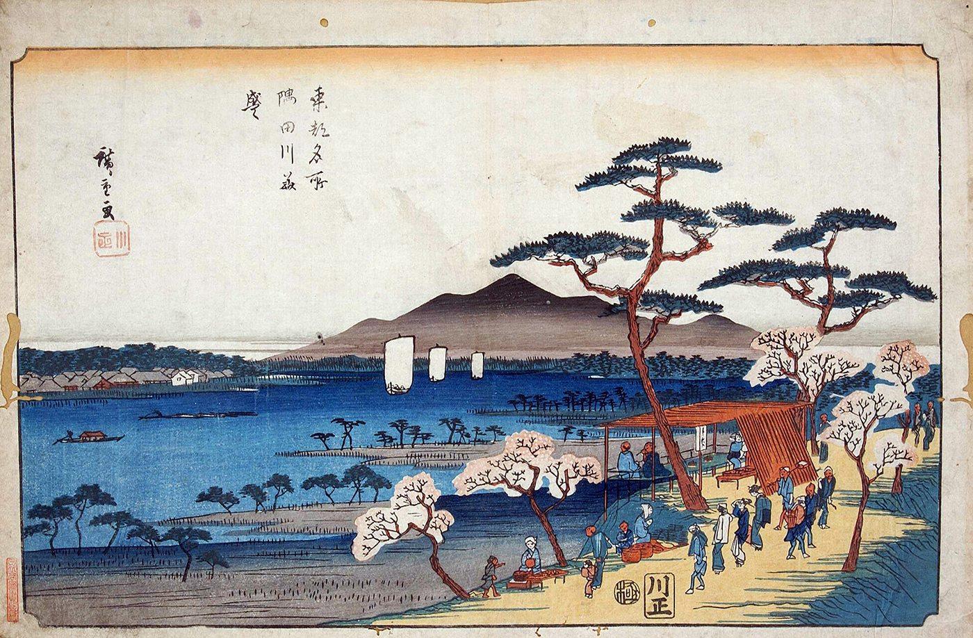 открытки с японскими гравюрами наносится осыпается