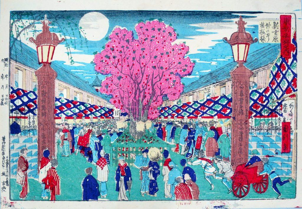 estampe japonaise cerisiers en fleurs_42