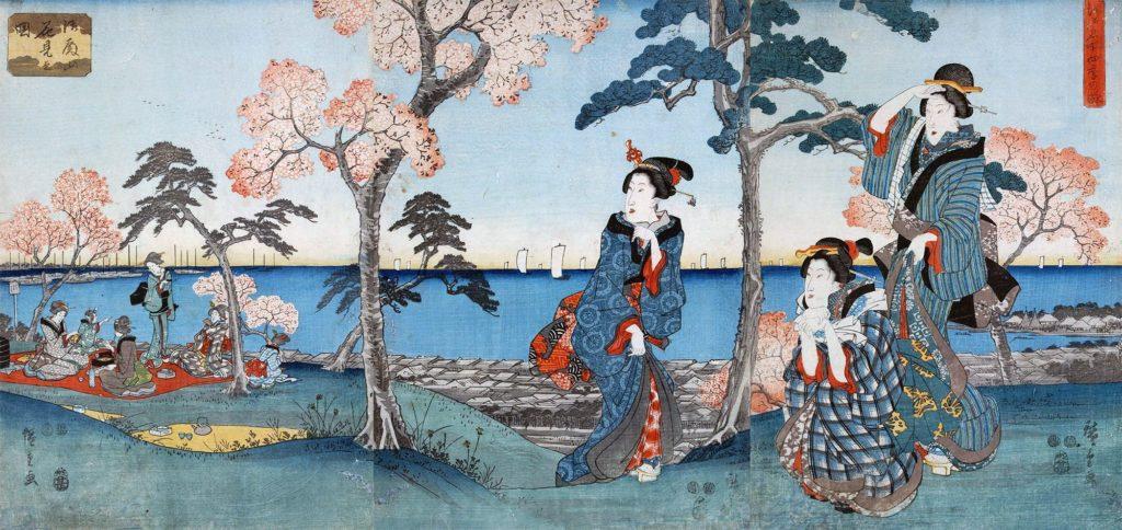 estampe japonaise cerisiers en fleurs_43