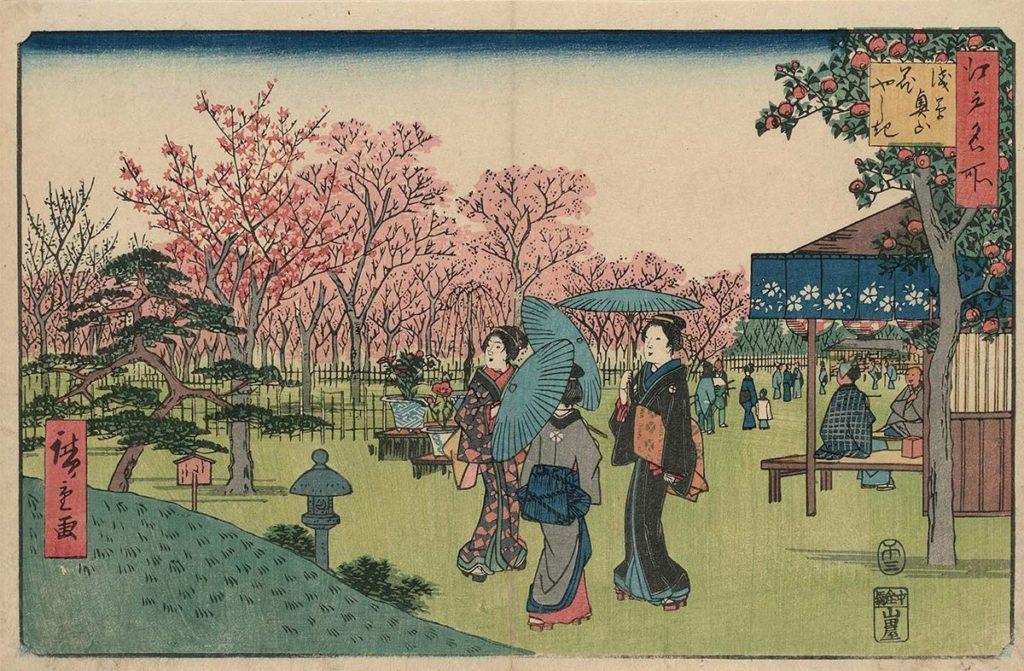 estampe japonaise cerisiers en fleurs_5