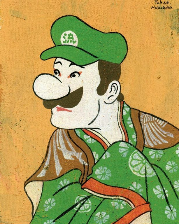 Ukiyo-e mario marvel star wars_1