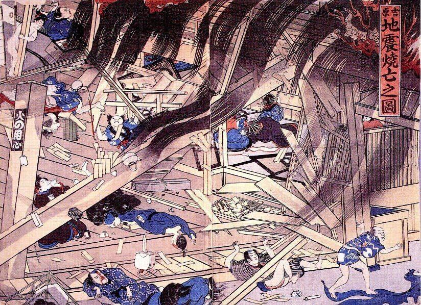 estampe japonaise tremblement de terre_7