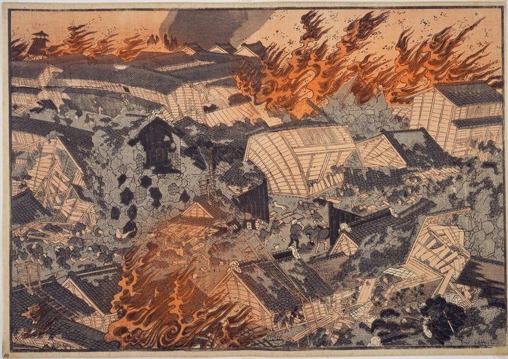 estampe japonaise tremblement de terre_Ansei_Great_Earthquake_1854_1855