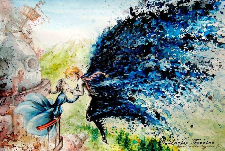 Louise Terrier acuarelas Ghibli_1