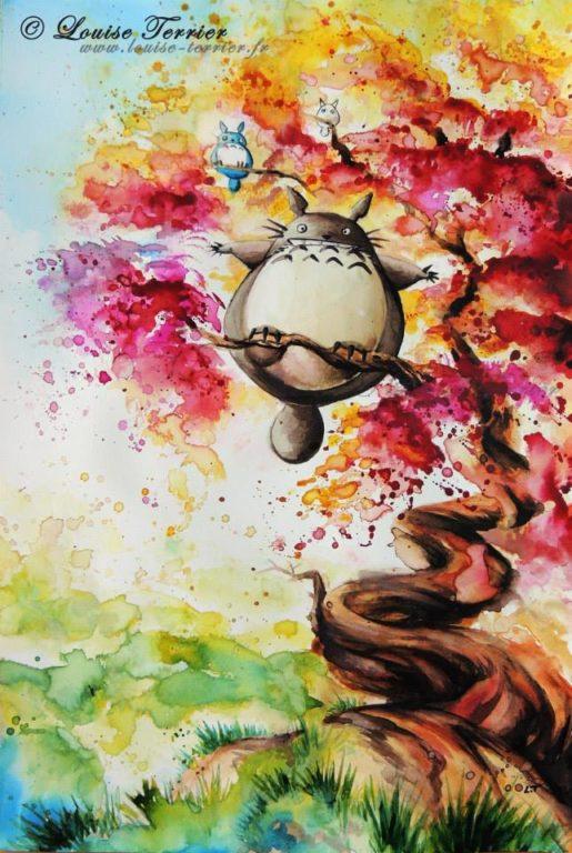 Louise Terrier acuarelas Ghibli_11