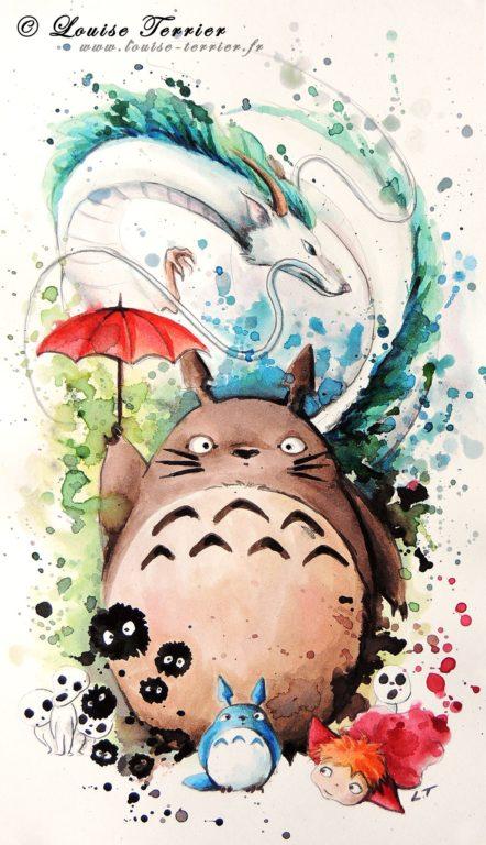 Louise Terrier acuarelas Ghibli_12