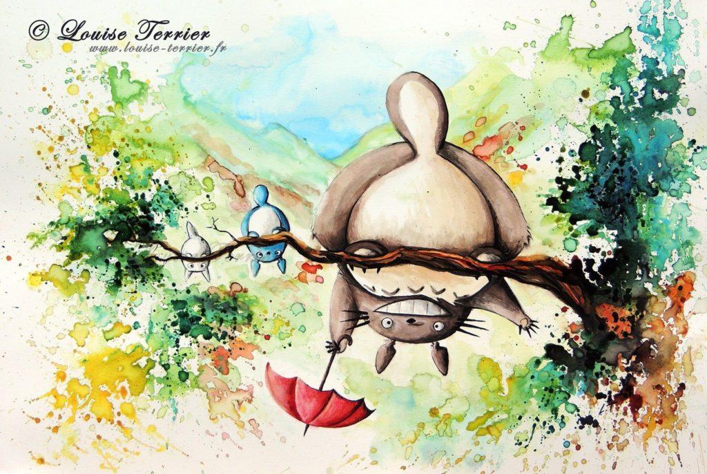 Louise Terrier acuarelas Ghibli_13