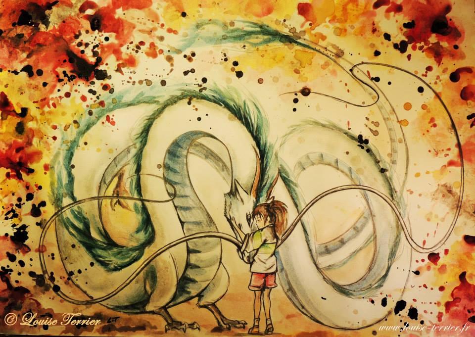 Louise Terrier acuarelas Ghibli_15
