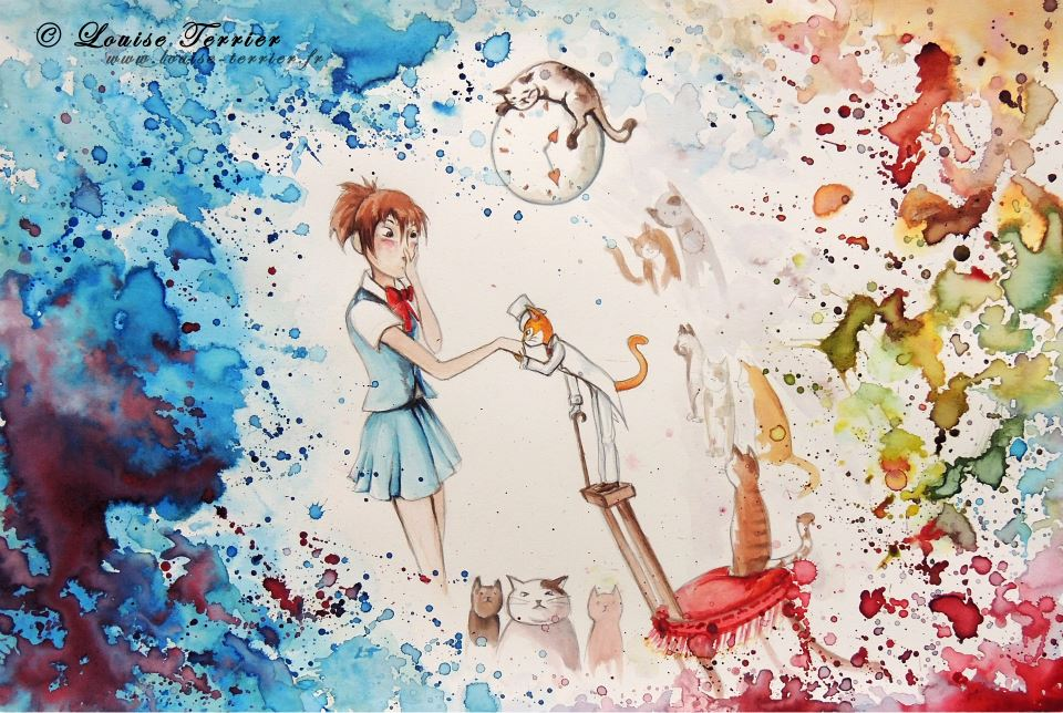 Louise Terrier aquarelles Ghibli_19