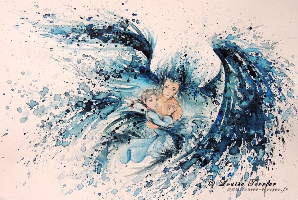 Louise Terrier acuarelas Ghibli_20