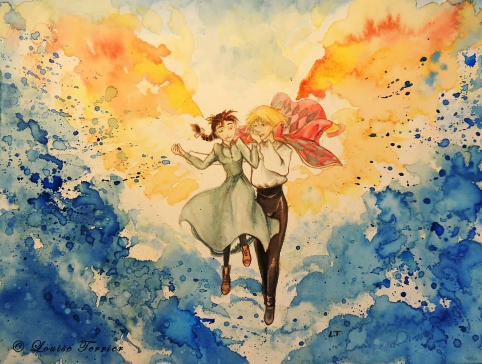 Louise Terrier acuarelas Ghibli_27