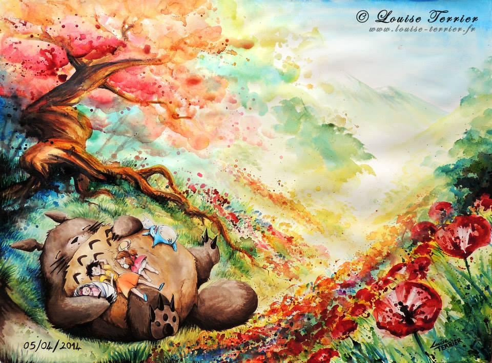 Louise Terrier acuarelas Ghibli_28