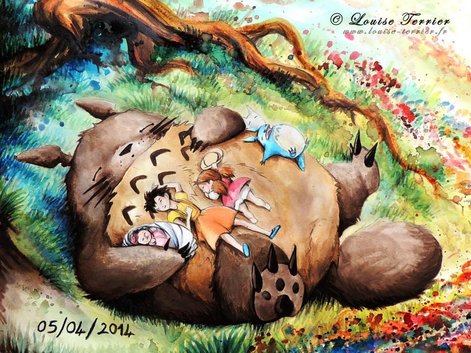 Louise Terrier acuarelas Ghibli_29