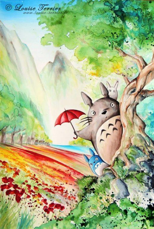 Louise Terrier acuarelas Ghibli_3