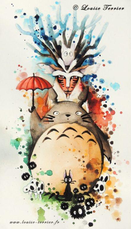 Louise Terrier acuarelas Ghibli_30