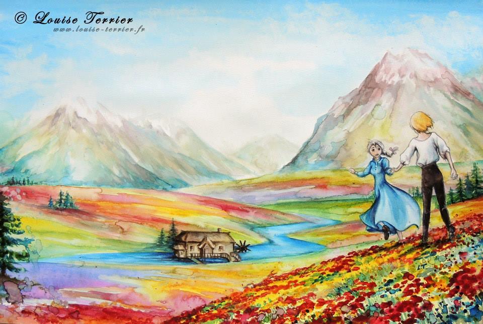 Louise Terrier acuarelas Ghibli_31