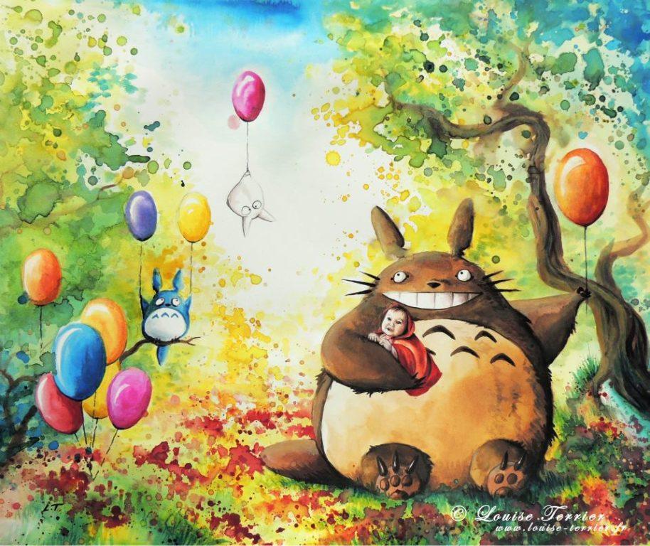 Louise Terrier acuarelas Ghibli_35