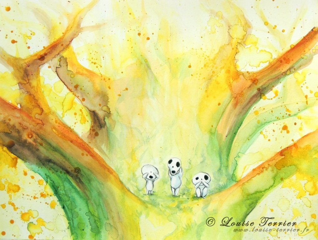 Louise Terrier aquarelles Ghibli_36