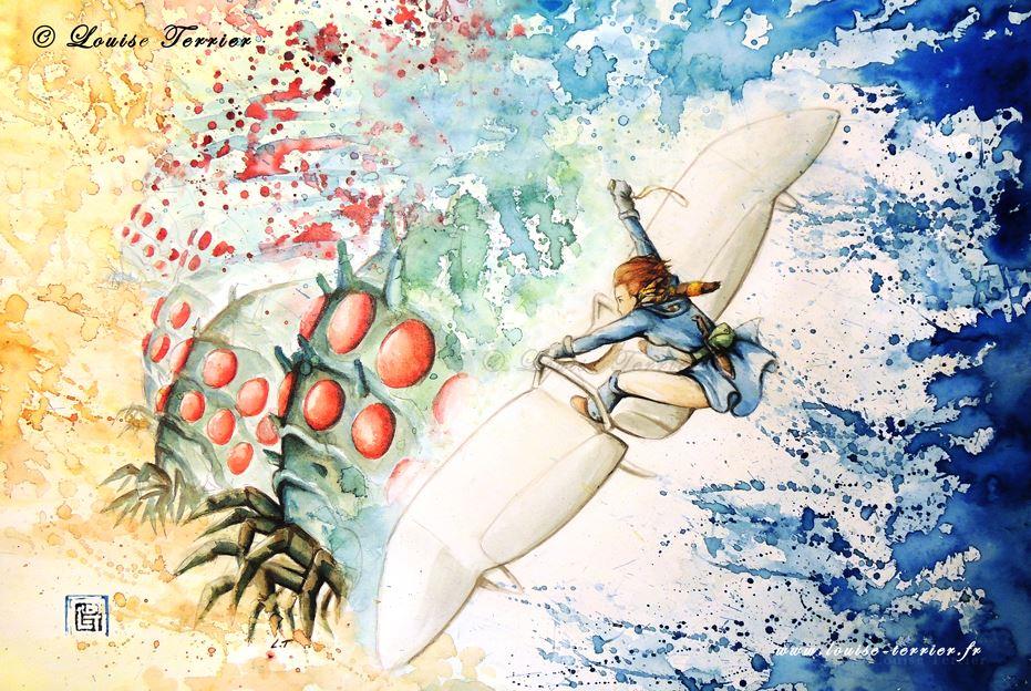 Louise Terrier acuarelas Ghibli_37