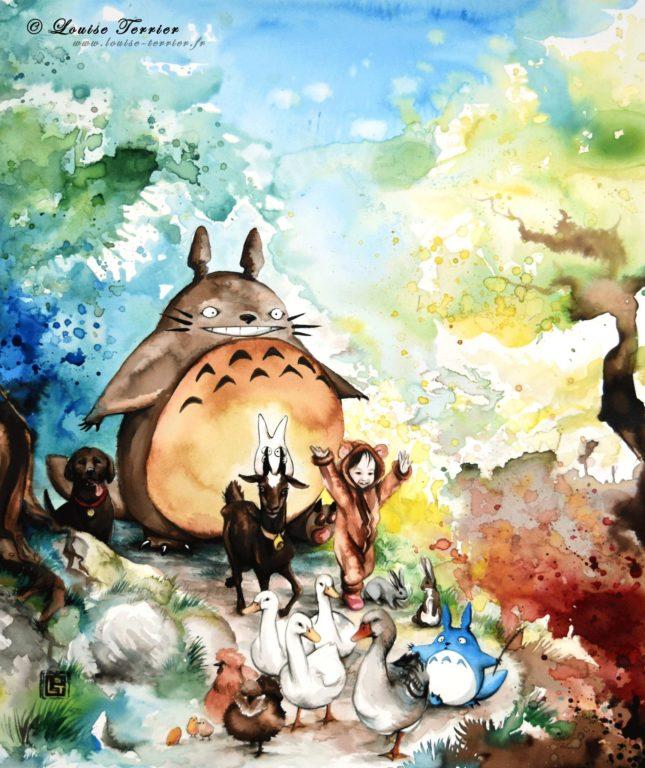 Louise Terrier acuarelas Ghibli_39