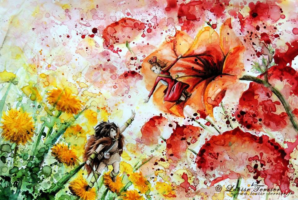 Louise Terrier acuarelas Ghibli_6